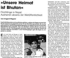 Bhutanesische Flüchtlinge in Nepal (der Überblick, 2/95)