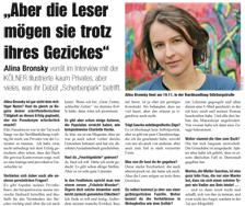 Alina Bronsky über ihr Debüt Scherbenpark (KÖLNER Illustrierte, 11/08)